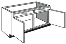 "V36: Vanity Cabinet, 36""w x 31""h x 21""d"