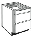 "VD24: Vanity 3-Drawer Cabinet, 24""w x 31""h x 21""d"