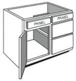 "VE_30: Vanity Combination Cabinet, 30""w x 31""h x 21""d"
