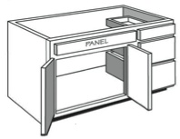 "VE_42: Vanity Combination Cabinet, 42""w x 31""h x 21""d"