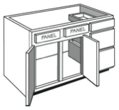 "VE_60: Vanity Combination Cabinet, 60""w x 31""h x 21""d"