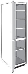 """VLC2184: Vanity Linen Closet, 21""""w x 84""""h x 21""""d"""