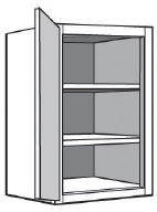 "W0930: Kitchen Wall Cabinet with Solid Door, 09""w x 30""h x 12""d"