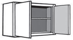 "W2424: Kitchen Wall Cabinet, 24""w x 24""h x 12""d"