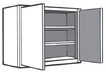 "Kitchen Wall Cabinet, 24"" x 30""h x 12""d"