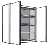 "Kitchen Wall Cabinet, 24""w x 42""h x 12""d"