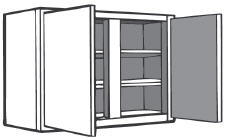 "W2730: Kitchen Wall Cabinet, 27""w x 30""h x 12""d"