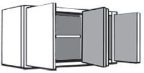 "W4824: Kitchen Wall Cabinet, 48""w x 24""h x 12""d"