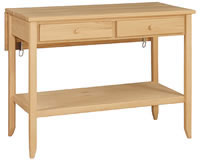 Shaker Island 2 Drawer/Shelf/Leaf