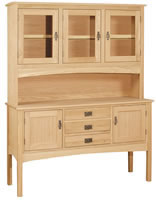 Mission Hutch 3 Door w/Server Area 61.5""