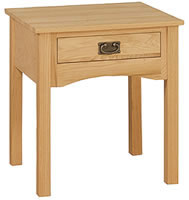 Mission End Table Rectangle 1 Drawer