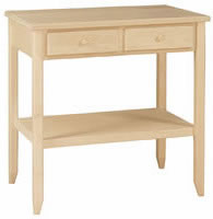 Shaker Island 2 Drawer w/Shelf