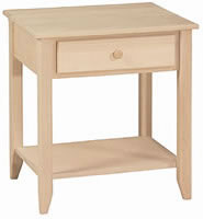 Shaker End Table Rectgle 1 Drawer w/Shelf