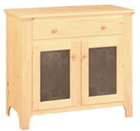 Country Cabinet Pie Safe 1 Drawer/2 Door Tin