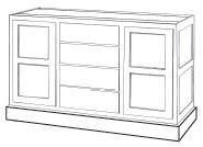 """2G5102: Vintage Kitchen Island, 59-1/2""""W x 35-1/2""""H x 23-1/4""""D"""
