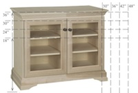 "Georgetown Semi-Custom Entertainment Stand, 2 Sections, 2 Glass Doors, 16""D"