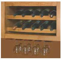 "WHR__15: Kitchen Horizontal Wine Wall Cabinet, 15""h x 12""d"
