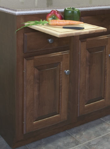 BC18: Kitchen Base Cabinet with Cutting Board, 18