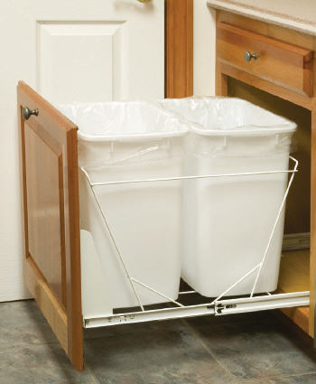 "BR21: Kitchen Base Recycling Cabinet, 21""w x 34 1/2""h x 24""d"