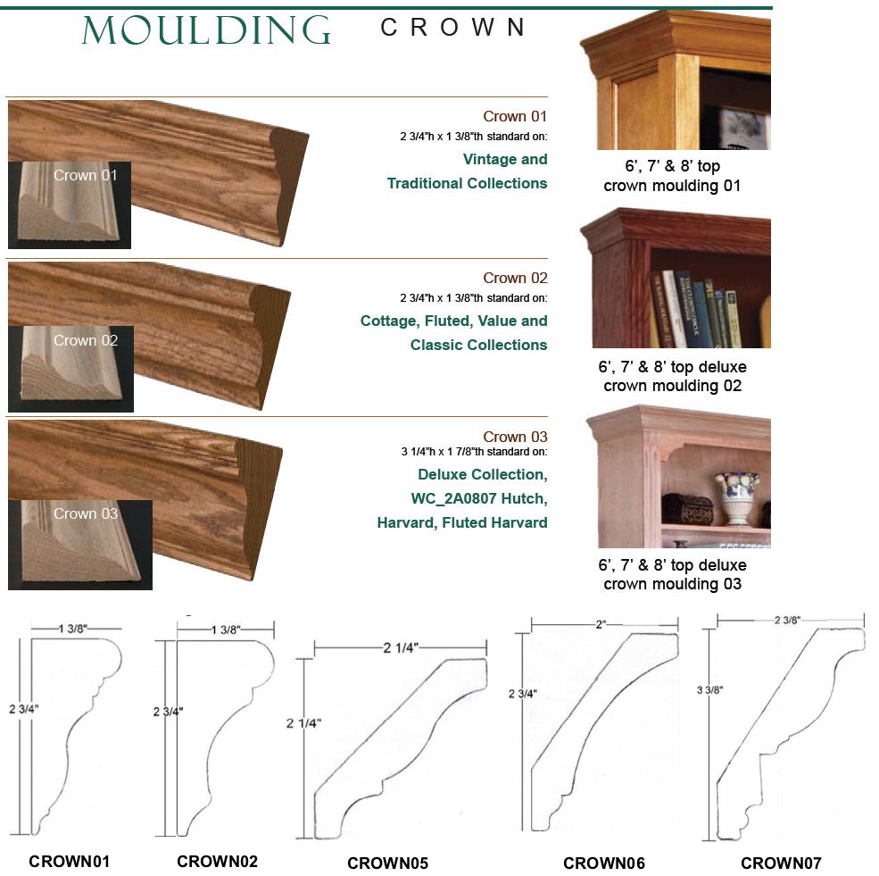 Crown Crown Moulding 8 Foot Piece Custom Unfinished