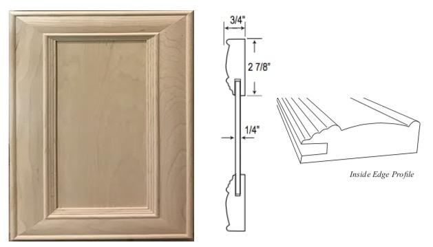 """Custom Mitered Flat-Panel """"1"""" Door"""
