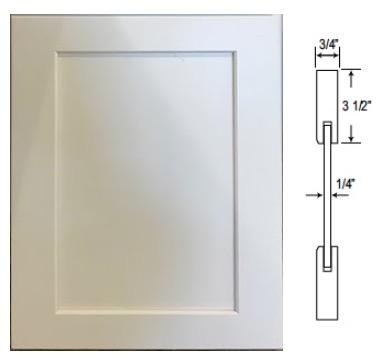 "Custom Shaker Door 3.5""W Frame"