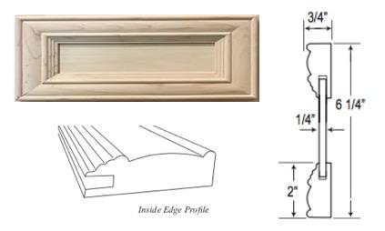 "Custom Mitered Flat-Panel ""1"" Drawer Front"