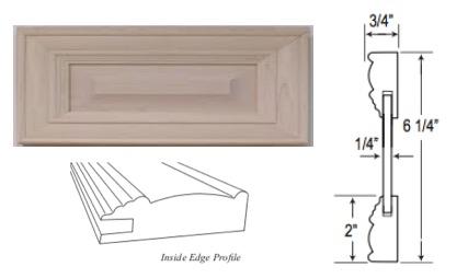 Custom Mitered Raised-Panel Drawer Front