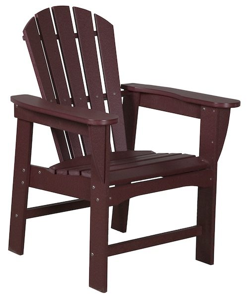 "Outdoor, Adirondack Dining Chair, 28""W x 38""H x 27""D"