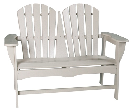 "Outdoor, Adirondack 2-Seater Bench, 48""W x 38""H x 27""D"