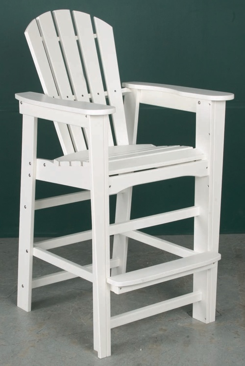 "Outdoor, Adirondack Bar Chair, 28""W x 49""H x 27""D"