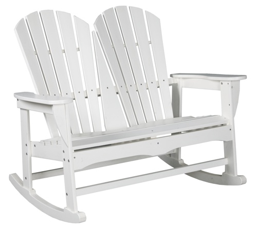 "Outdoor, Adirondack 2-Seater Bench Rocker, 48""W x 41""H x 34""D"