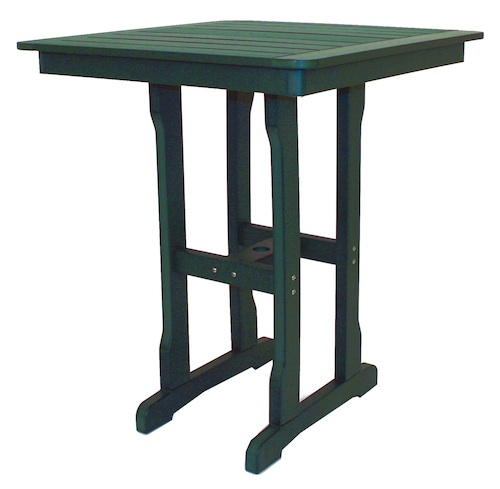 "Outdoor, Square Bar Table with Umbrella Hole, 36""W x 36""L x 41""H"