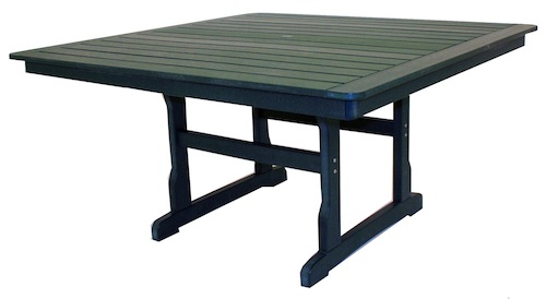 "Outdoor, Square Dining Table with Umbrella Hole, 58""W x 58""L x 29""H"
