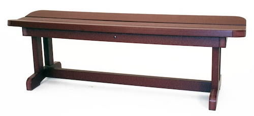 "Outdoor, Backless Bench, 58""W x 18""H x 12""D"