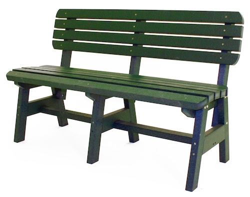 "Outdoor, Park Bench with Back, 54""W x 33""H x 23""D"